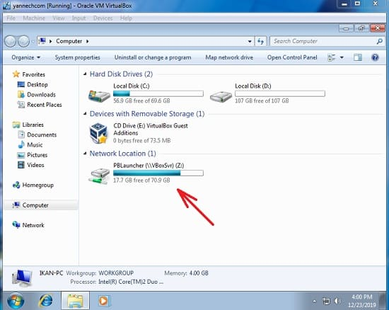 Share Folder Dari Windows ke VirtualBox