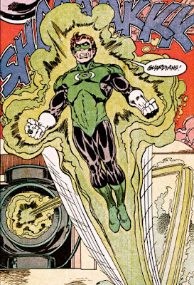 M.D. Bright Green Lantern illustration. Property of DC comics.