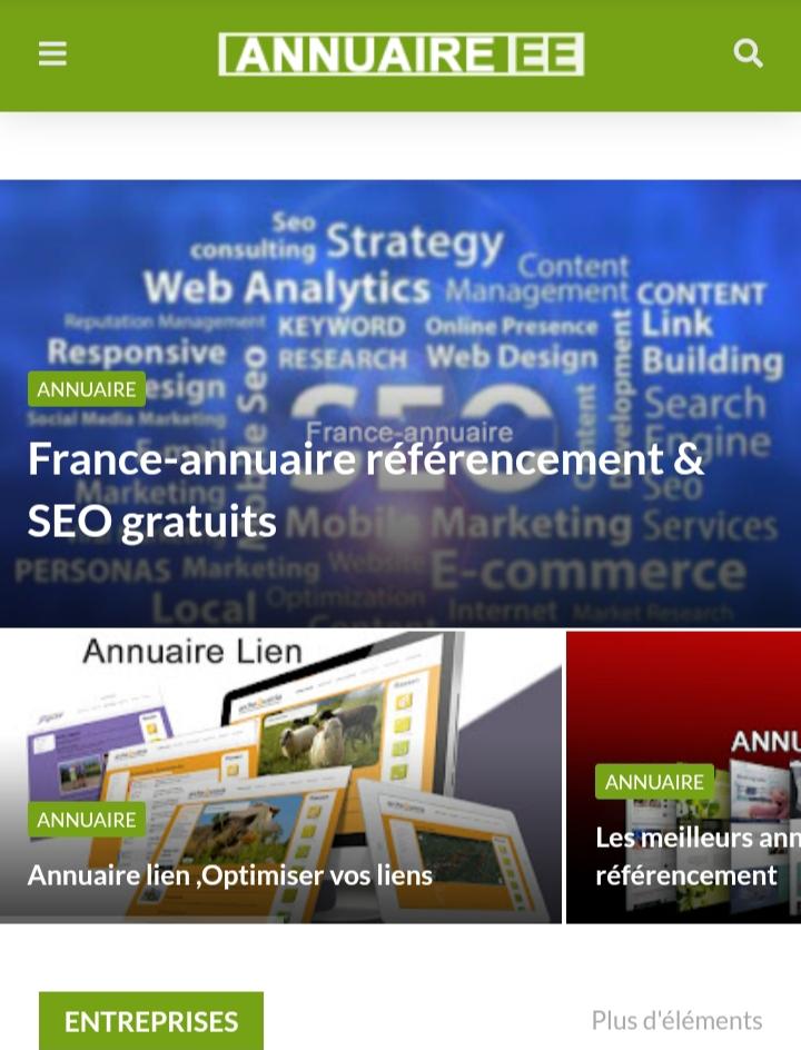 annuaireee.com votre annuaire sur Paris ile France et toutes les régions en France