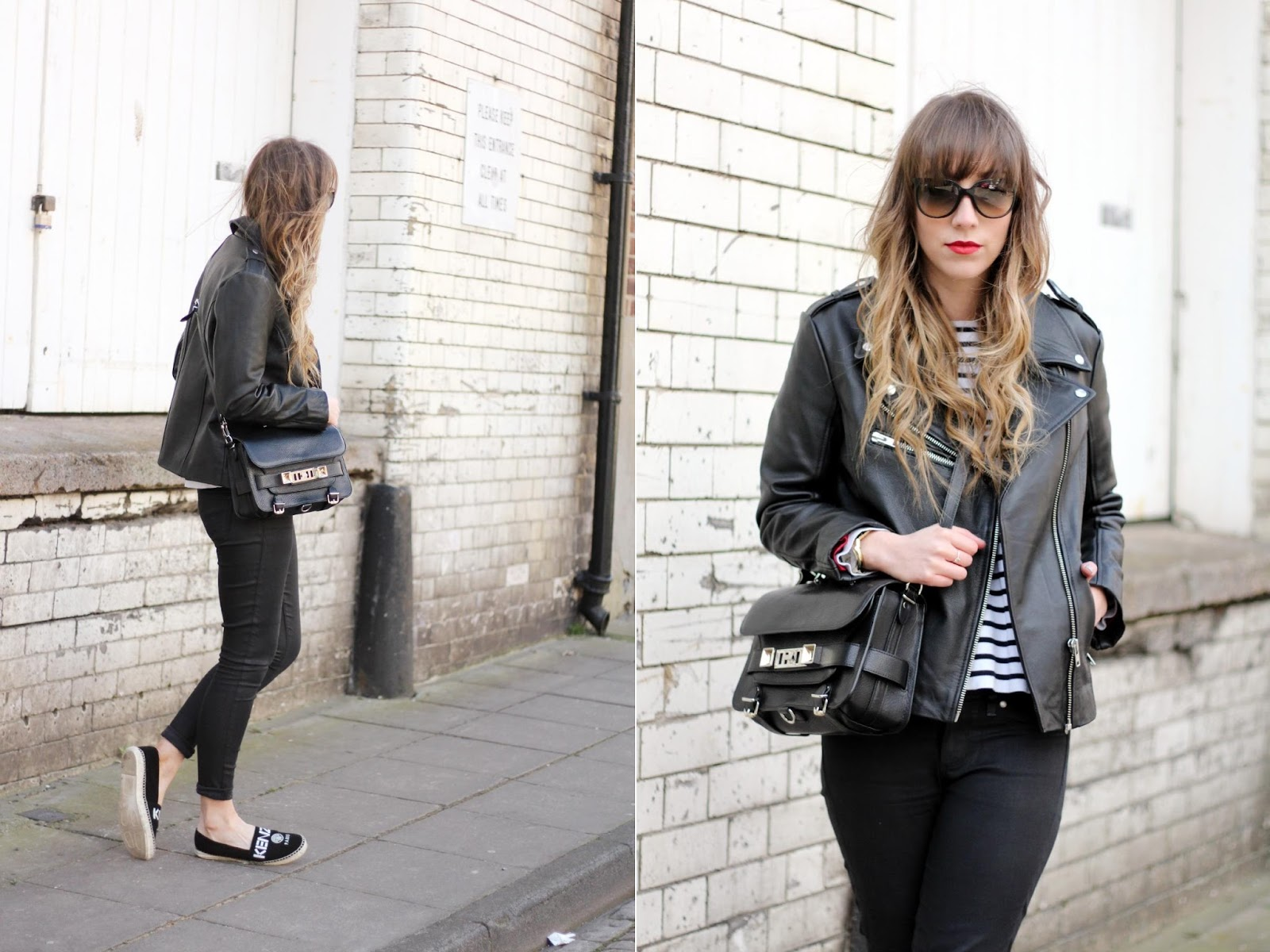 6b1fe8c5f5 jacket: Urban Outfitters | jumper: Zara | jeans: Paige | shoes: Kenzo |  bag: Proenza Schouler PS11 | sunglasses: RayBan*