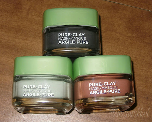 NEW L'Oreal Pure Clay Masks - Exfoliate, Detox, Purify