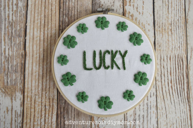 Easy Embroidery for St. Patty's Day