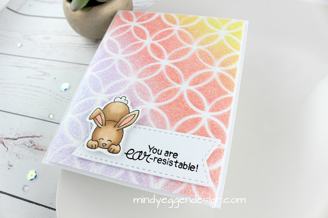 You're EAR-risistable Card by March Guest Designer Mindy Eggen | Bitty Bunnies Stamp Set by Newton's Nook Designs #newtonsnook #handmade