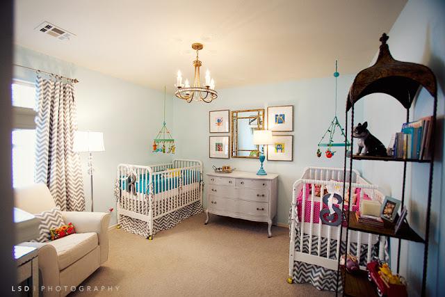 Idée déco chambre bébé jumeaux mixte