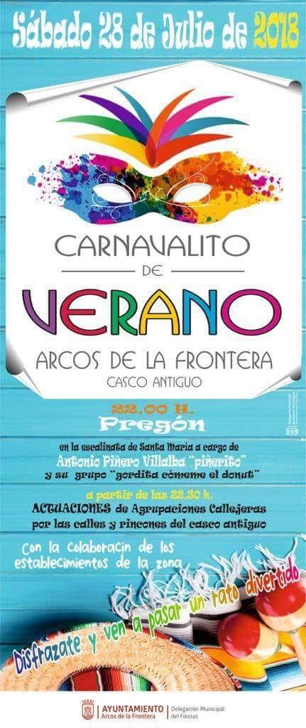 Carnavalito de Verano en Arcos este sábado