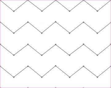 How to draw chevron for How to make a chevron template