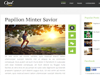 Opal Blogger Template Full Responsive