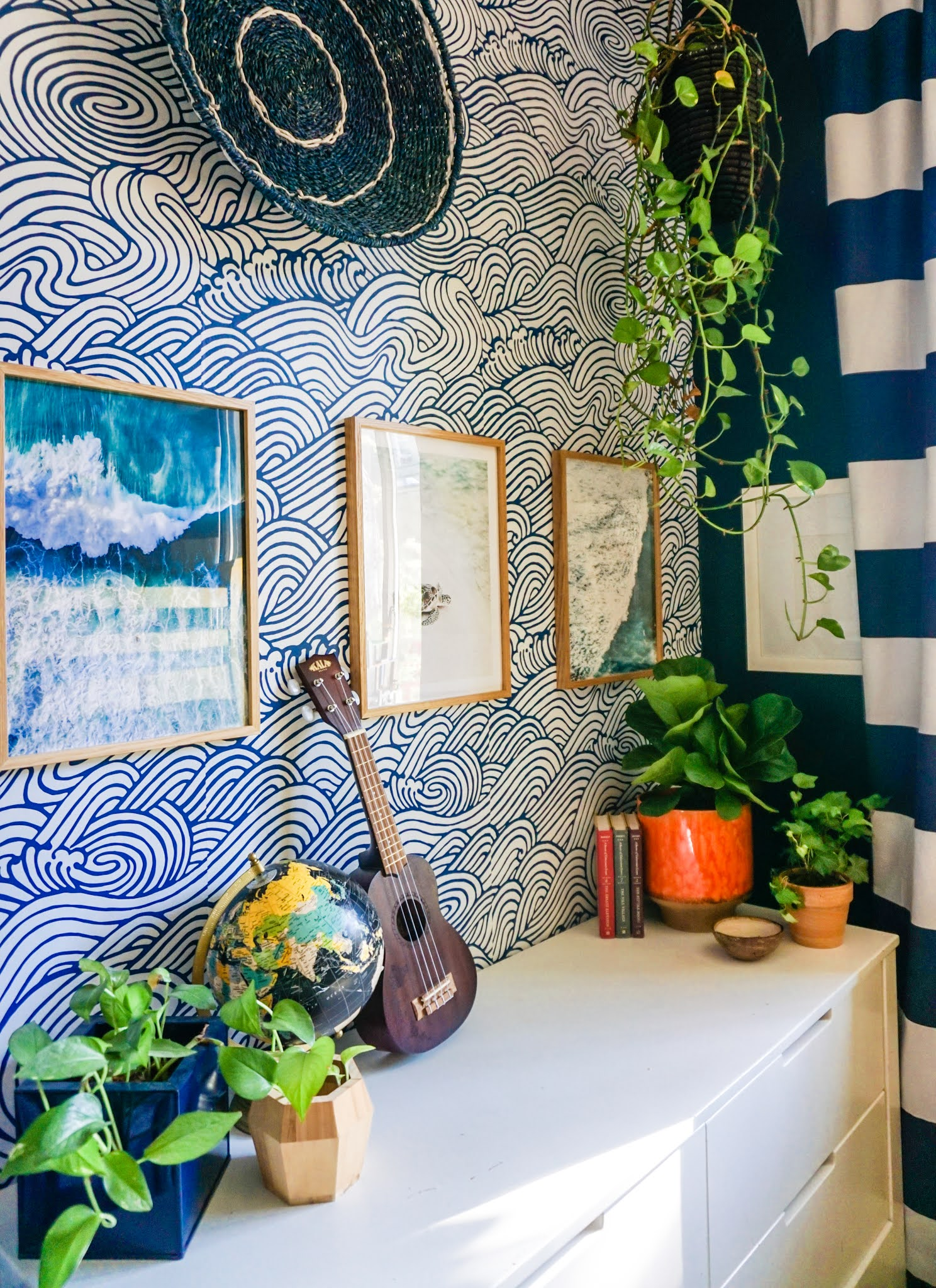 Bright And Colorful Kids Room Decor With A Removable Wallpaper And Gallery Wall Tfdiaries