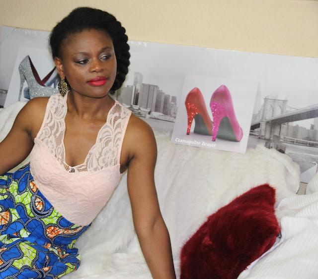 pagne, tenue en pagne, jupe en pagne, wax outfit, wax, body dentelle, body femme, imprimé africain, newlook