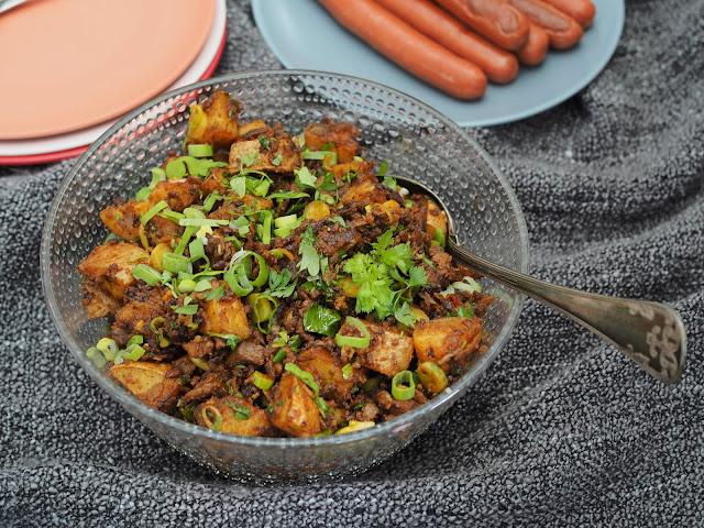 paahdettu perunasalaatti pesto