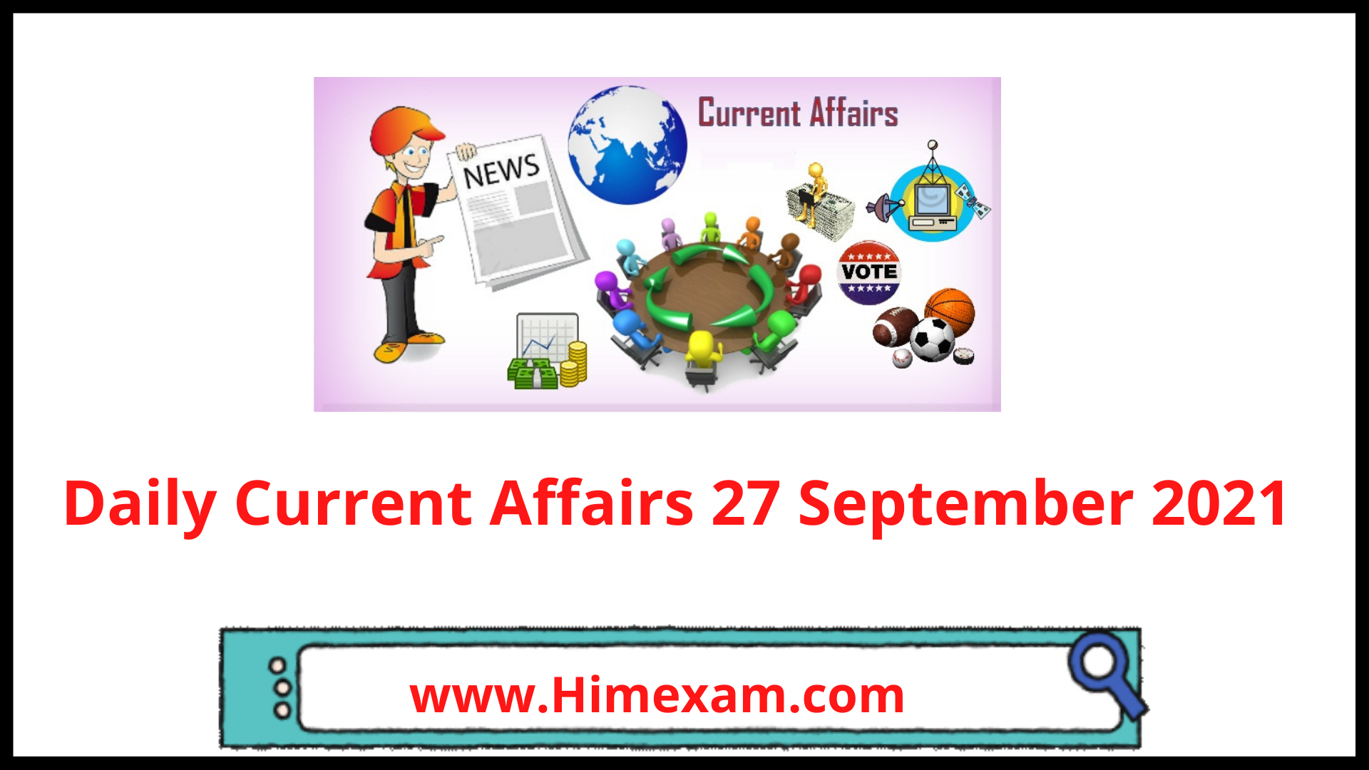 Daily Current Affairs 27 September 2021