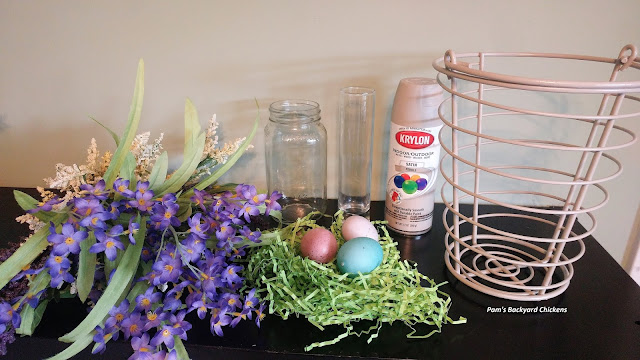 Here's how I combined a decor idea and an old chicken egg basket for an updated and refreshed spring look.