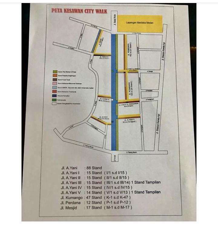 Denah Kesawan City Walk