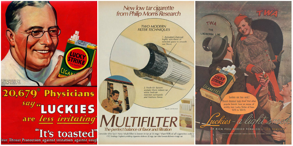 Selling Cigarettes With Medical Science From the 1930s