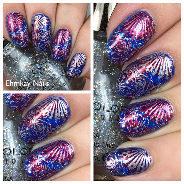 ehmkay nails fourth of july fireworks