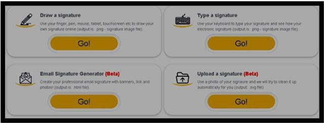 أداة مجانية لتصميم توقيع شخصي خطي جاهز باسمك أو لبريدك الإلكتروني