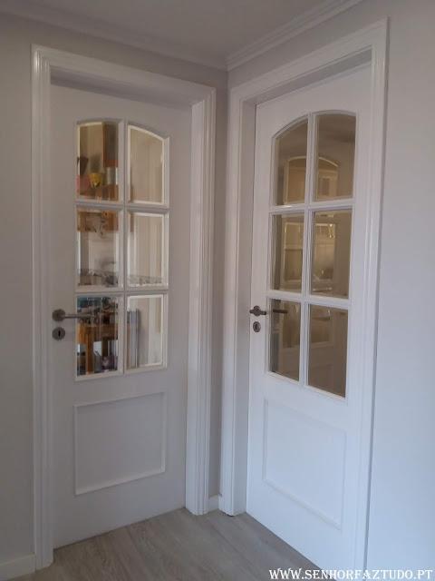pintura das portas e aduelas com esmalte sintético da CIN.