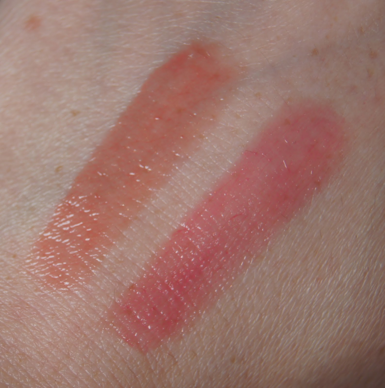 soap and glory sexy mother pucker gloss stick nudist bashful swatches