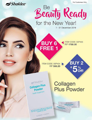 Promosi Shaklee Disember 2019 Collagen Plus Powder
