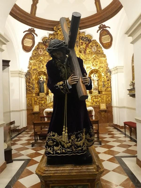 El Nazareno de La Rambla ya en la Parroquia de Ntra Señora de la Asunción después de participar en la magna exposición de Córdoba