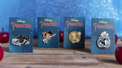 Disney's Pinocchio Enamel Pin Collection by Sam Wolfe Connelly x Mondo
