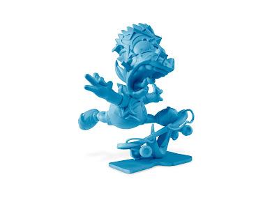 """The Simpsons """"Elevate"""" Blue Edition Vinyl Sculpture by Louis De Guzman"""