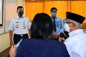 Wapres Ma'ruf Amin Tinjau PTM Terbatas di Jakarta