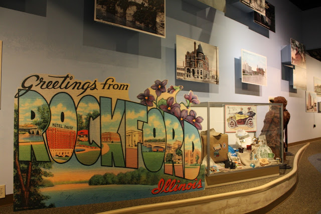 Learning about Rockford history at Midway Village Museum
