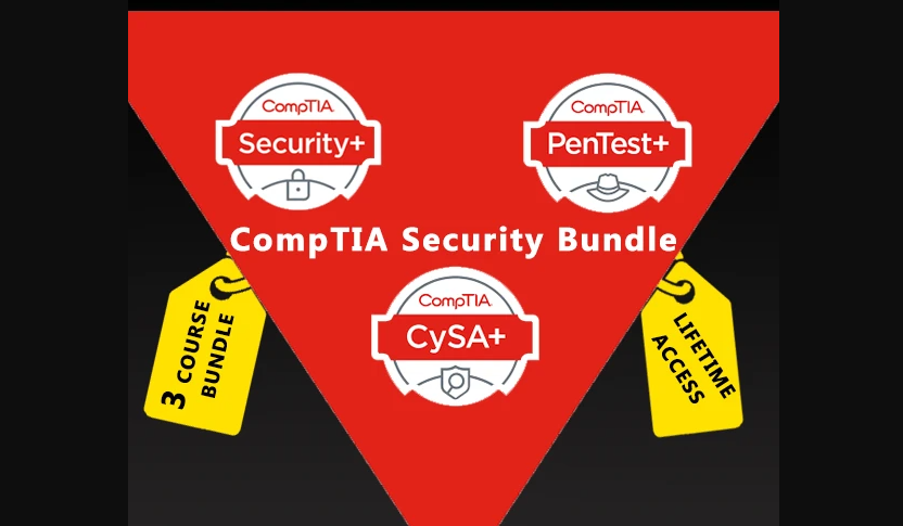 Complete CompTIA Certification Training Bundle 2020 – CompTIA Security +, Pentest+, CySA+ With Lifetime Access