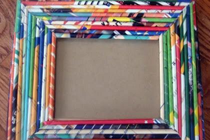 Membuat Bingkai Foto Kreatif dari Bahan Bekas