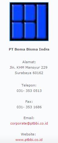 Lowongan Kerja di PT BOMA BISMA INDRA (Persero)