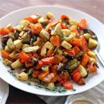Keptos daržovės su tahini padažu