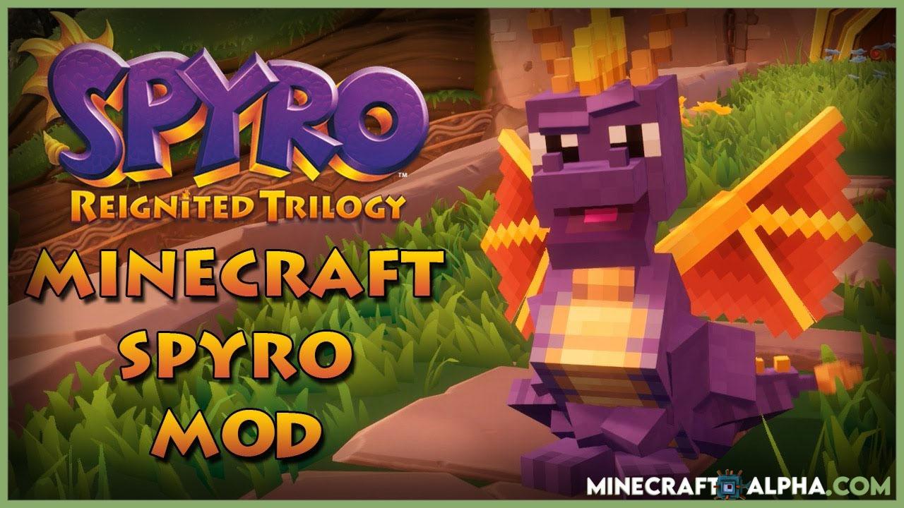 Minecraft Spyro Dragons Mod For 1.15.2