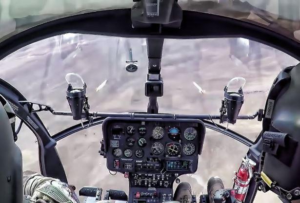 MD 530F Cayuse Warrior cockpit