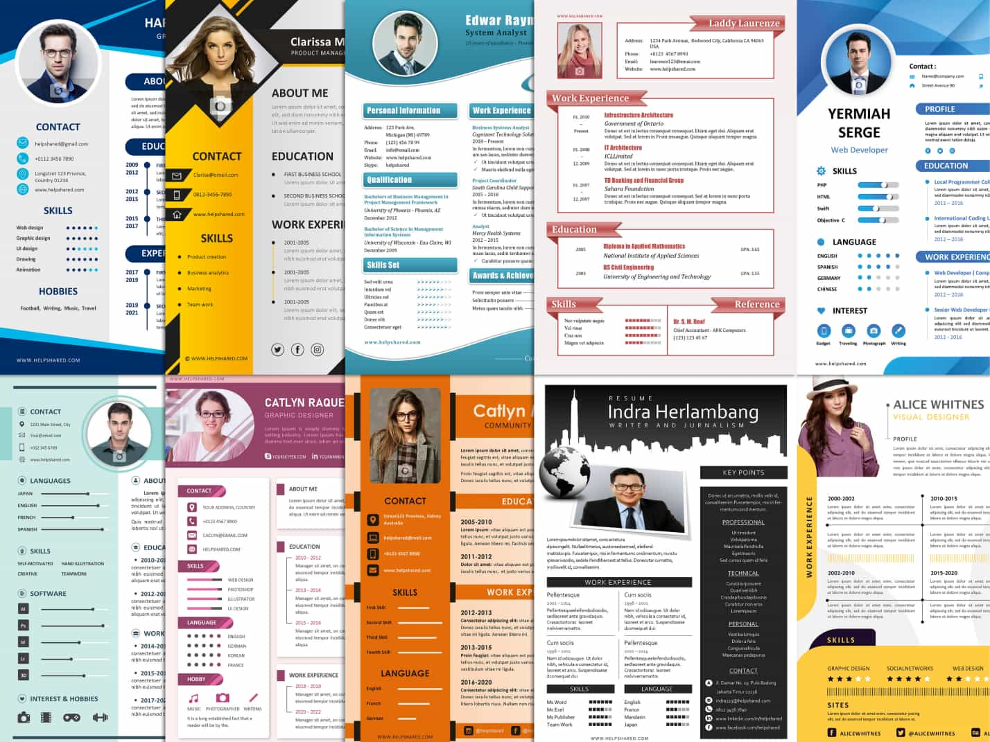 cv resume template examples format