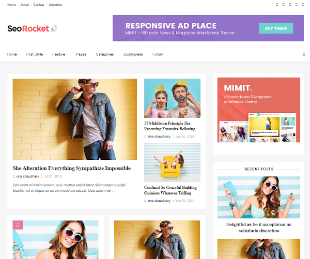 Seo rocket premium blogger template free download
