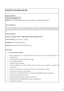 Canadian Resume Format Samples For Experienced