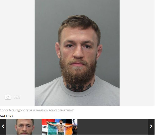 Star fighter Conor McGregor arrested on Miami Beach, accused of smashing fan's phone