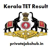 Kerala TET Result