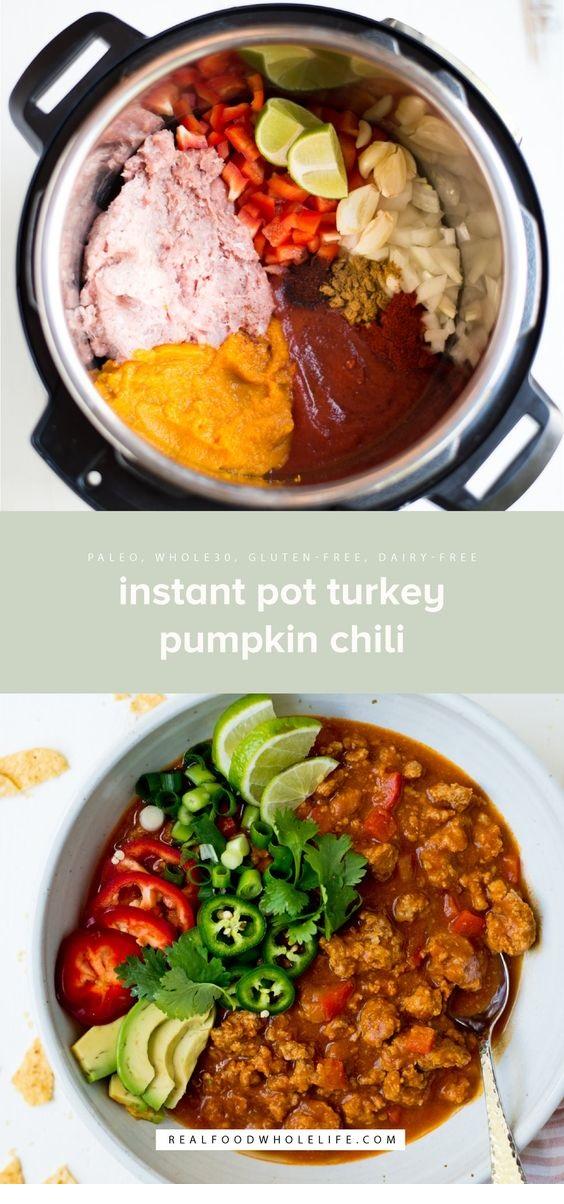 Instant Pot Turkey Paleo Pumpkin Chili
