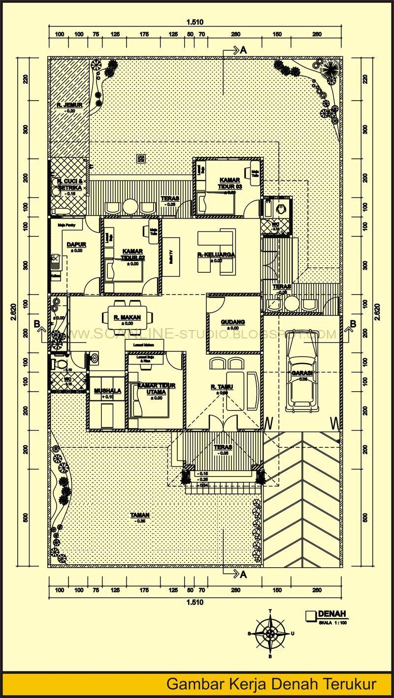 gambar denah lokasi rumah minimalis 1