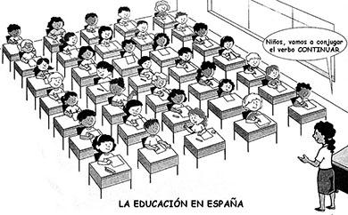 el villano arrinconado, humor, chistes, reir, satira, España, Rajoy, educacion
