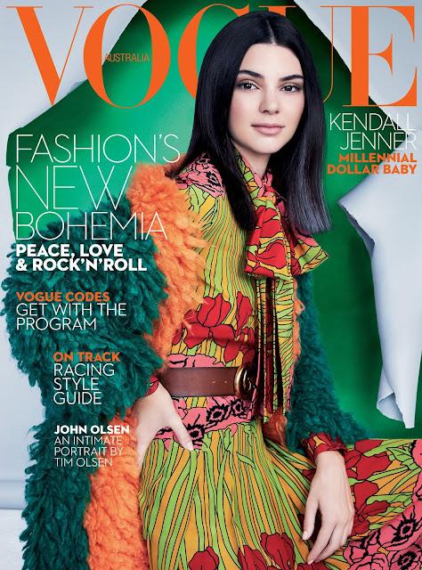 Fashion Model, @ Kendall Jenner - Patrick Demarchelier for Vogue Australia, October 2016