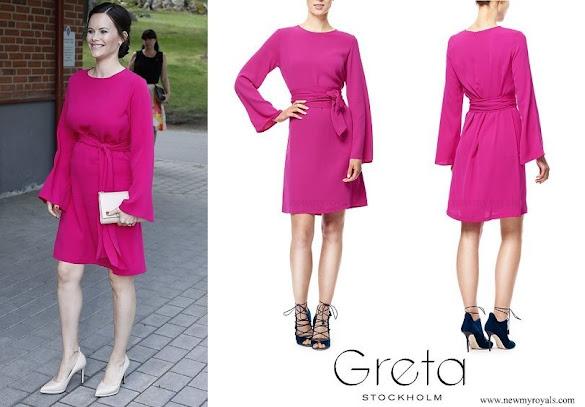 Princess Sofia wore Greta Stockholm Emmie Dress