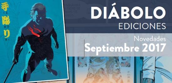 Novedades de Diábolo Ediciones. Septiembre de 2017