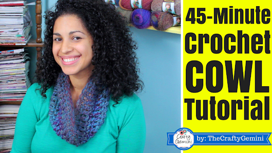 45-Minute Crochet Cowl Tutorial & Giveaway