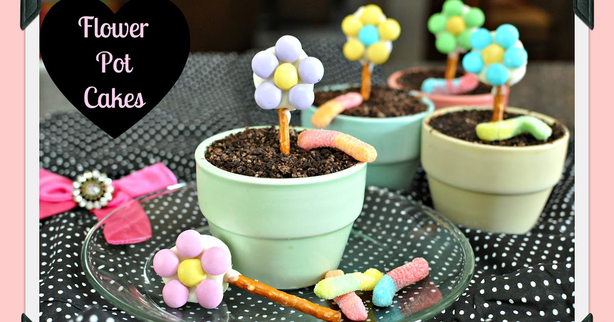 How To Make Edible Flower Pot Cakes