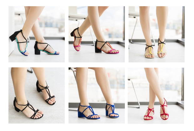 sandale simple elegante piele intoasra