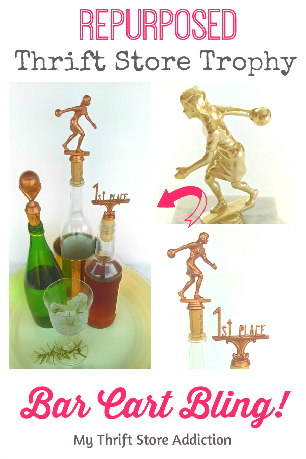 Repurposed Trophy Bottle stoppers