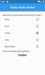 flutter radio list tile controll afinity